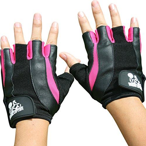 Guanti per sollevamento pesi per donne–sport e fitness, palestra e allenamento Cross–by Nordic Lifting–1anno di garanzia, Pink