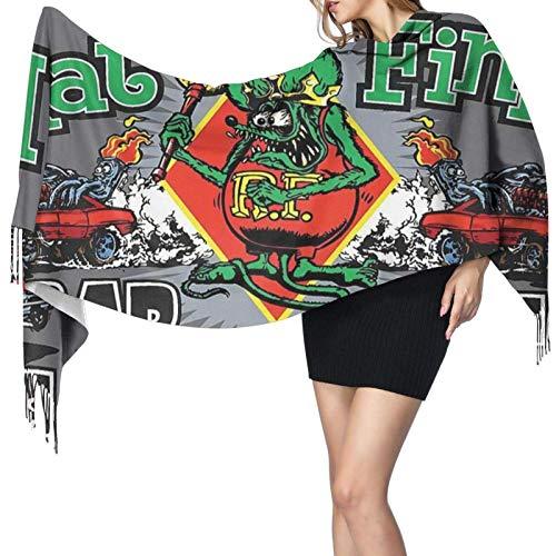 Yuanmeiju Damenmode Langer Schal Rat Fink Anime Men'S Fashion Fringe Scarf,Large Lightweight Cashmere Blanket Wrap Shawl Scarves
