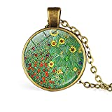 Desconocido Colgante Color Bronceado, Arte Gustav Klimt, Cuadro Jardín en Claro