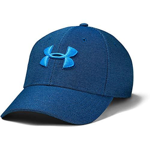 Under Armour Herren Deckel Kappe Heathered Blitzing 3.0, Graphite Blue/Electric Blue (581), M/L, 1305037-581