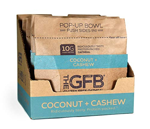 The GFB Protein Oatmeal Cup (Pop-up), Coconut + Cashew, 2 Ounce (Pack of 6), Gluten Free, Non GMO