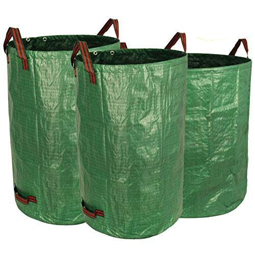 Gardzen 3-Pack Garden bag 32&40&72 Gallons - Reuseable Heavy Duty Gardening Bags, Lawn Pool Garden Leaf Waste Bag (32x40x72 Gallons)