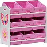IB-Style - Meubles Enfants Papillon | 6 Combinaisons | Étagère de Rangement Inclus 9 tirois en Tissu | Nettoyer sorte pépinière