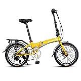 Adultos bicicleta plegable de 20 pulgadas 7 Velocidad plegable bicicletas, super compacto urbano de cercanías de bicicletas, bicicletas plegables con antideslizante y resistente al desgaste de neumáti