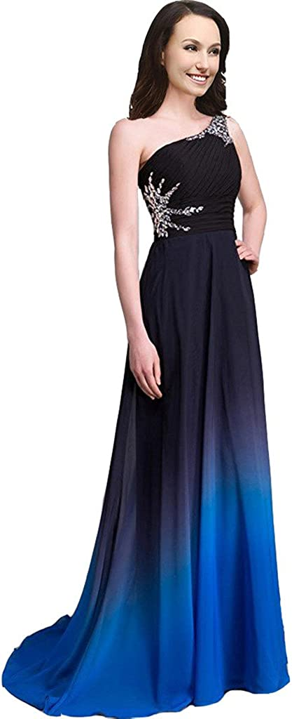 Lemai Women's A Line Chiffon Ombre Prom Dre Gradient Long Free shipping on Phoenix Mall posting reviews Beaded