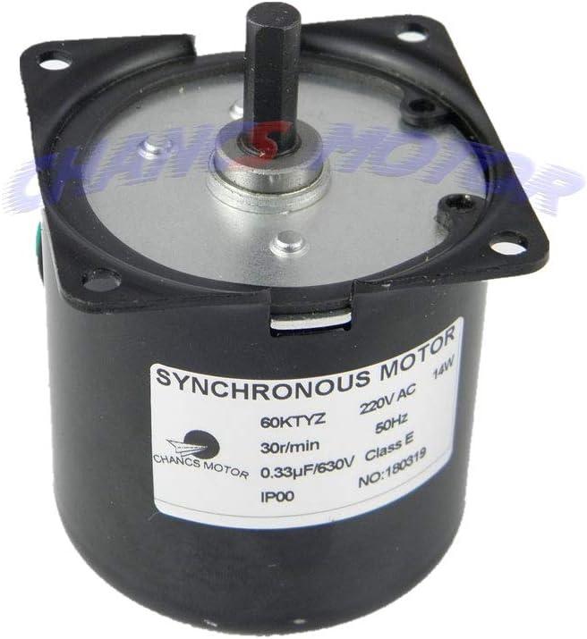 CHANCS 60KTYZ Synchronous Gear Motor AC 220-240V 20r//min CW//CCW Torque 10Kgf.cm Control 14W with 1PC Gear Motors Mounting Bracke Fixed Seat Holder