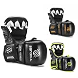 New Item Sanabul Essential 7 oz MMA Hybrid Sparring Gloves (Black/Silver, Large/X-Large)