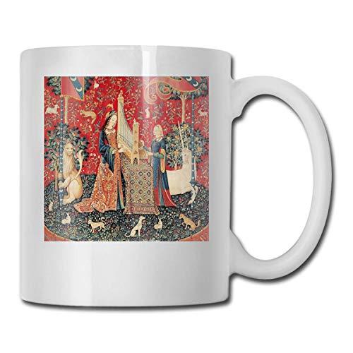 haoqianyanbaihuodian Unicornio y señora que juega órgano con animales, código de cerámica de la audición 330ml
