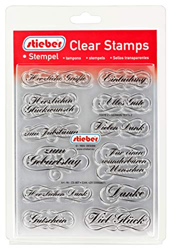 stieber Clear Stamps Transparente Stempel Sets (Bitte gewünschtes Motiv/Thema unten auswählen!) (TEXTE 2 - German Texts 2)