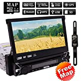 EINCAR 7 Pouces GPS Voiture Stéréo Lecteur écran Tactile de Navigation GPS Lecteur DVD Universel 1 Din...