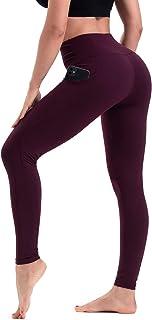 HLTPRO Leggings Damen Sport mit Tasche - Hohe Taille Blickdicht Lange Yogahose für Fitness Workout Gym