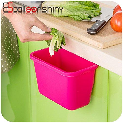 Generic azul: soportes de almacenamiento de residuos cubo de basura para muebles de cocina, armario organizador basura papelera papelera Scrap almacenamiento caja cesta