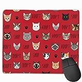 Nehmen Sie Nicht Shop Katze Stoff - Rettungskatze Stoff, Katze Annahme Stoff, Katzen-rot Mauspad Mousepad rutschfeste Gummi sichern 10