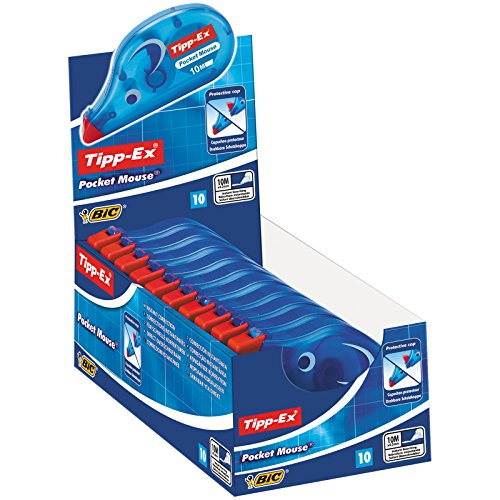 Tipp-Ex Pocket Mouse Cinta Correctora – 10 m x 4,2 mm, Caja de 10 unidades