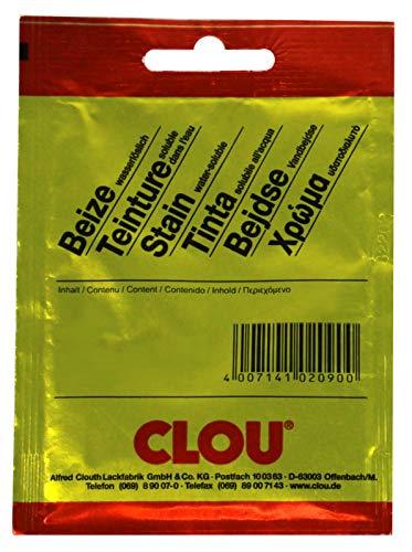 CLOU Beize wasserlöslich, 5er Pack Beutelbeize - Farbwahl - 172 birnbaum