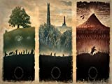 Map of Middle Earth The Lord of The Rings Poster for Bar Office Room Wall Print Home Decoration Frameless Gift 12 x 18 inch(30cm x 46cm)-LT-115