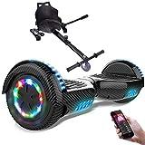 RCB Gyropode électrique Auto-Equilibré Scooter Electrique Auto-équilibré 6,5 Pouces avec LED + Hoverkart Accesoires pour Scooter Cadeau pour Enfants et Ados