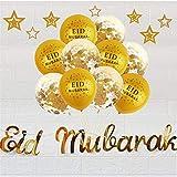 Ramadan Dekorationen Eid Mubarak Pailletten Luftballons Set für Home Party Hochzeitsdekoration und mehr