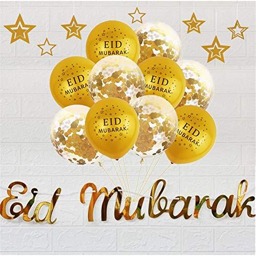tidystore Ramadan Dekorationen Eid Mubarak Pailletten Luftballons Set Für Home Party Hochzeitsdekoration Und Mehr