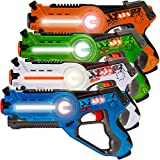 Best Choice Products Kids Laser Tag Set w/ Multiplayer Mode, 4 Pack
