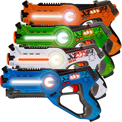 Best Choice Products Set of 4 Infrared Laser Tag Set for Kids & Adults w/ Multiplayer Mode