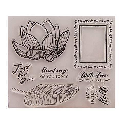 Bloemen Bladeren Denken van U met Liefde Heldere Postzegels Clear Stempel/Seal Scrapbook/Foto Decoratieve Kaart Maken Clear Stempel