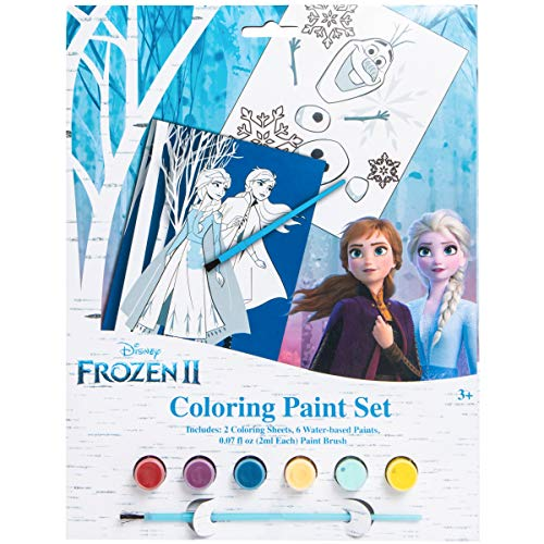 Frozen Disney 2 Coloring Paint Set with Elsa Anna and Olaf