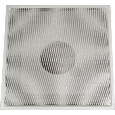"""24"""" x 24"""" T-Bar Drop Ceiling Perforated Return Grill - Metal Back Casing - with 8"""" Collar"""