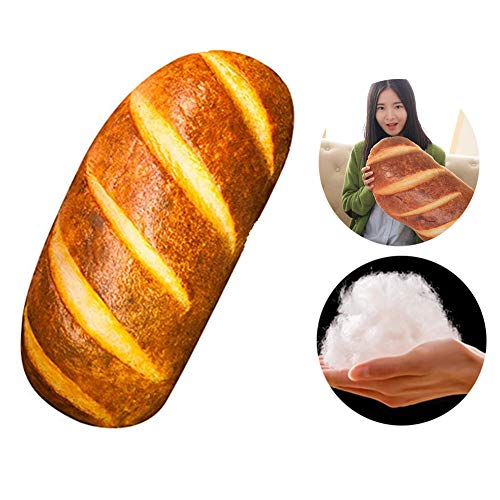 Haozhixin 3D Simulation Bread Shape Pillow,Soft Butter Toast Bread Pillow,Food Plush Stuffed Toy,Food Throw Pillow Back Cushion Office Sleep Pillow for Home Sofa Decor ( 39.4inch )