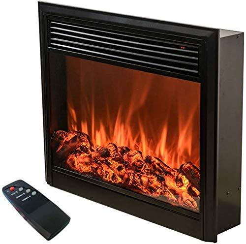 Y DWAYNE Chimenea eléctrica Decorativa para el hogar 750/1000 W Calentador de Pared de Chimenea electrónica de Alta simulación de Fuego para calefacción de mármol Negro