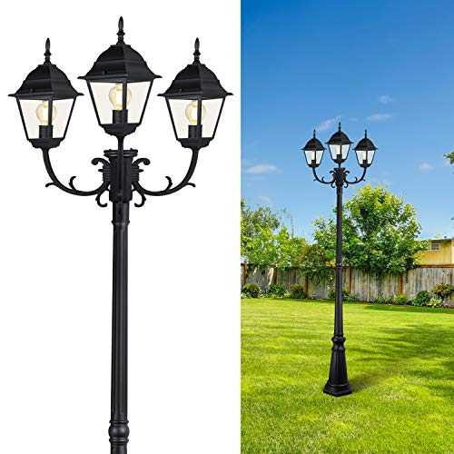 CINOTON Triple-Head Outdoor Lamp Post