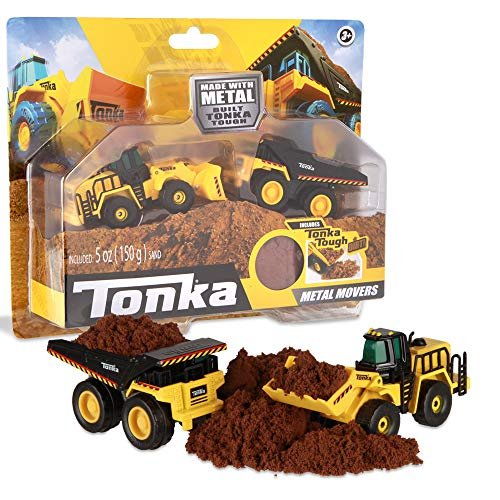 Tonka - Metal Movers Combo Pack - Mighty Dump Truck & Front Loader