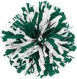 In-Stock Youth Cheerleading Pom Dark Green/Wht