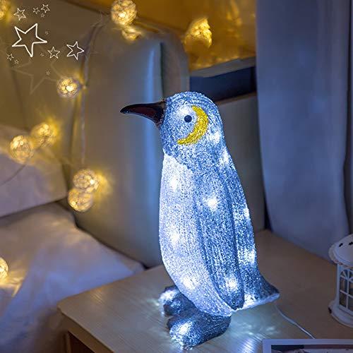 WWLONG Pinguin Laterne 3D Tischlampe Schlafzimmer Nachttischlampe Dekoration Nachtlicht LED Nachtlicht 3D Visuelles Licht