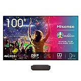 Hisense Laser TV 100' con schermo luminoso 350nit, Risoluzione 4K, HDR10, Smart TV VIDAA 4.0, Dolby Atmos, 2700 Lumen, Alexa Integrata, tivùsat 4K, Installazione Gratuita