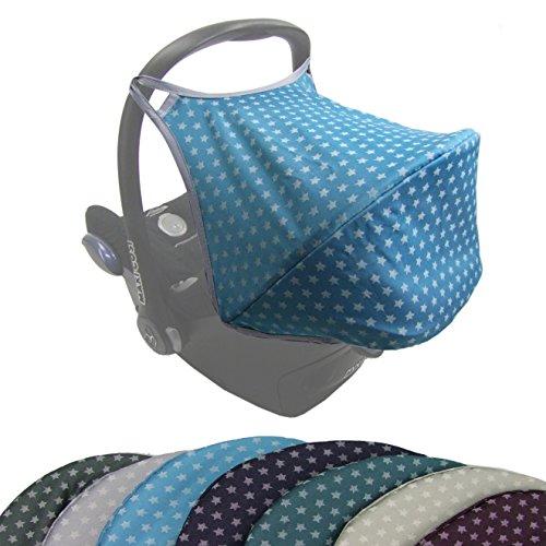 BAMBINIWELT zonnescherm UV50+ voor Maxi-Cosi Cabriofix, zonnedak babyschaal, autostoel sterren