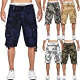 Geographical Norway Hombre Cargo Short People - Marino Camo, XXL