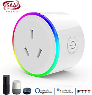 Aiconez Mini Smart Plug Mini Power Outlet Wi-Fi Enabled Smart Socket Compatible with Amazon Alexa Google Home Remote Contr...