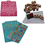 Apprendre hébreu DIY trousse Pochoir marque Timbres Joint Lettre Autocollant abc Enfant Fête Remarques Enseignement Apprentissage hébreu israélien Israël JUDAIQUE JUDAISME