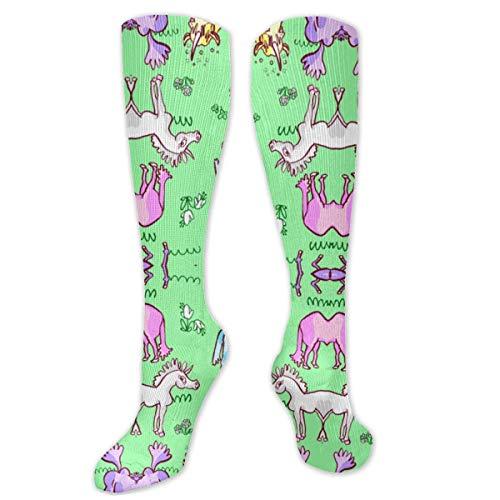 Jessicaie Shop Goofy Unicornios Calcetines de tela Atlético Medias de compresión Ajuste Correr