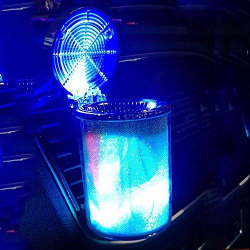 YXZN Car Cenicero con Tapa Creativa LED Coloridas Luces Luminosas Coche de...