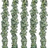 YOULY 5 Paquetes de Corona de Eucalipto Artificial Enredadera Enredadera de Eucalipto para DecoracióN de JardíN de Banquetes de Boda