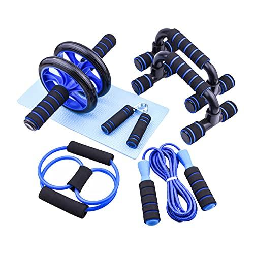 OOTD Kit De Herramientas De Fitness, Kit De Rodillos De Rueda De 7 Pulgadas AB Herramientas De Entrenamiento para El Hogar Gimnasio 7 Unids Profesión Fitness Entrenamiento Power Muscle Training Tools