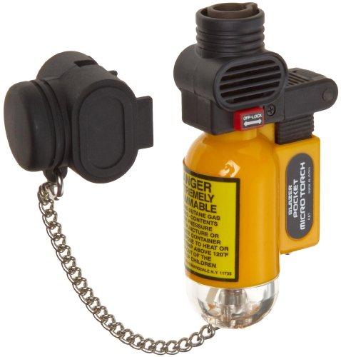 Blazer PB207CR The Torch Butane Refillable Lighter, Yellow