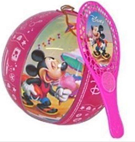 Disney LOT 10 Tap Ball Mickey Raquette 24 CM Ballon 20 CM