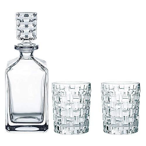Spiegelau & Nachtmann, 3-teiliges Whisky-Set, Dekanter+ 2x Whisky-Becher, Bossa Nova, Kristallglas, 101095