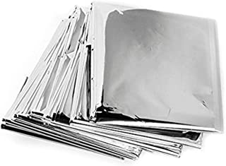 BeTter Outdoor 82 x 55 Emergency Silver Blankets,Space Blanket 5 Pack