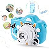 Bubble Machine Kids Bubble Maker - Automatic Camera Bubble Blower, Portable Bubble Toys with Colorful Light, Toys with bubble solution, Birthday Gift Party Favors for Kids Summer Indoor Outdoor