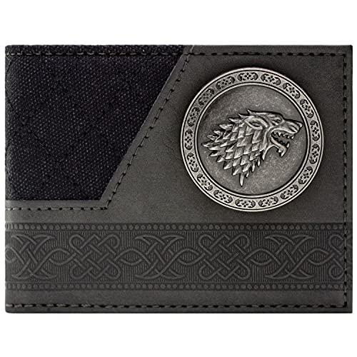 Game of Thrones Haus Stark Dire Wolf Schwarz Portemonnaie Geldbörse