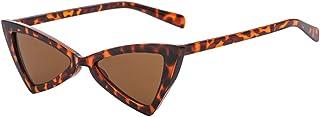 Inlefen - Hombres de las mujeres Gafas de sol de ojo de gato Triángulo de metal Bisagras de metal